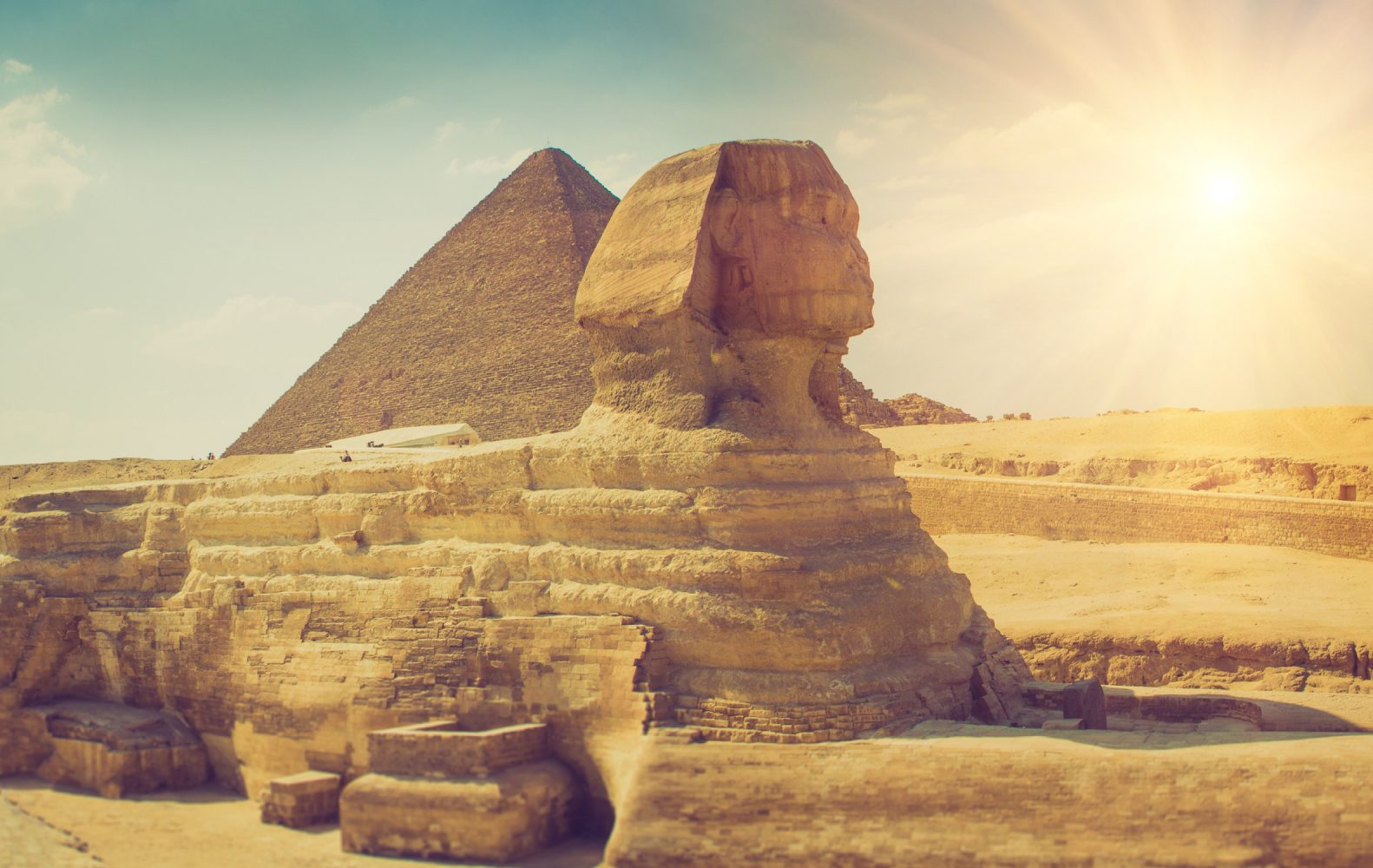 Panoramic,View,Of,The,Full,Profile,Of,The,Great,Sphinx